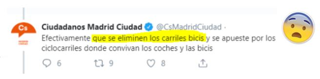 Ciudadanos Madrid EN CONTRA de la movilidadsostenible